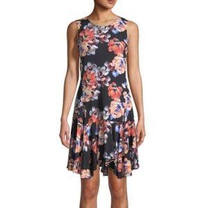 CeCe by Cynthia Steffe black floral dress